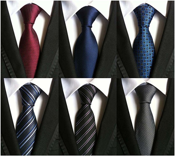 how to tie a tie - set of 6